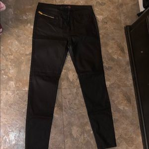 G by Guess black cherese coated skinny jeans